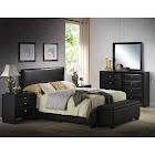 ACME Furniture Ireland III Panel Bed, Black, Queen