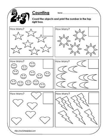 Counting worksheet a
