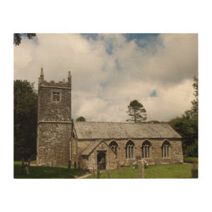 Braddock Church Cornwall England Wood Prints