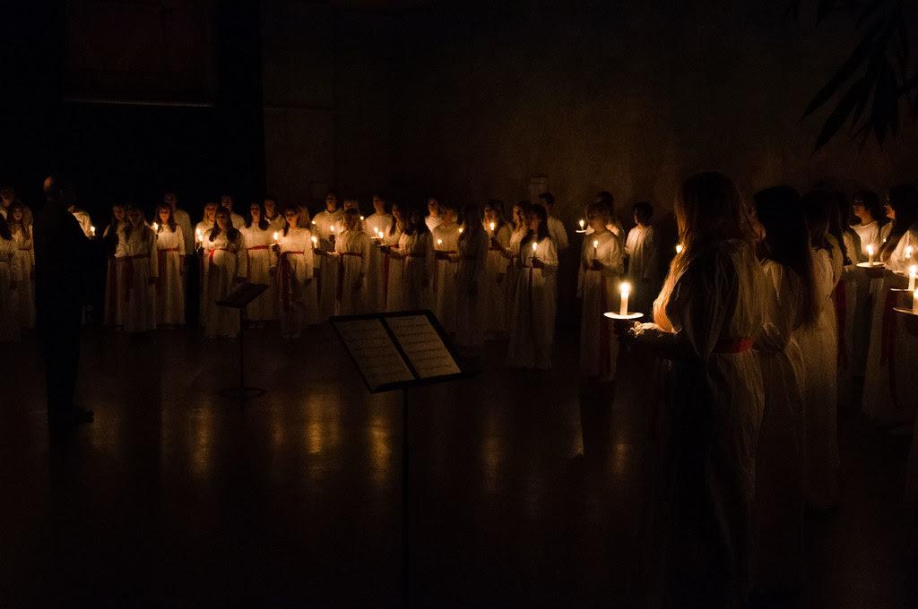 Lucia på Danderyds gymnasium 2013