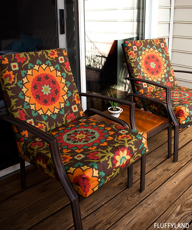 recovered patio chair cushions - Fluffyland Craft & Sewing ...