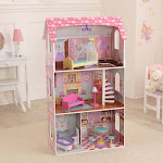 KidKraft Penelope Wooden Pretend Play House Doll Dollhouse Mansion w/ Furniture by VM Express