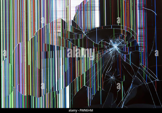 Image: Smashed Television Screen Stock Photos & Smashed Television Screen ...