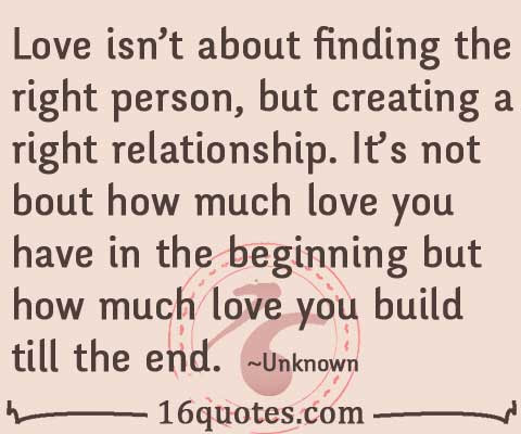 Love Is About How Much Love You Build Till The End