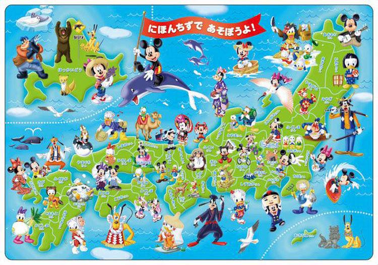 Ten Dc60 059 ディズニー ミッキーと日本地図であそぼう 60ピース