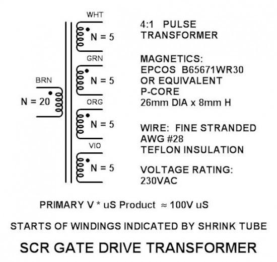 4 Secondary Pulse Transformer