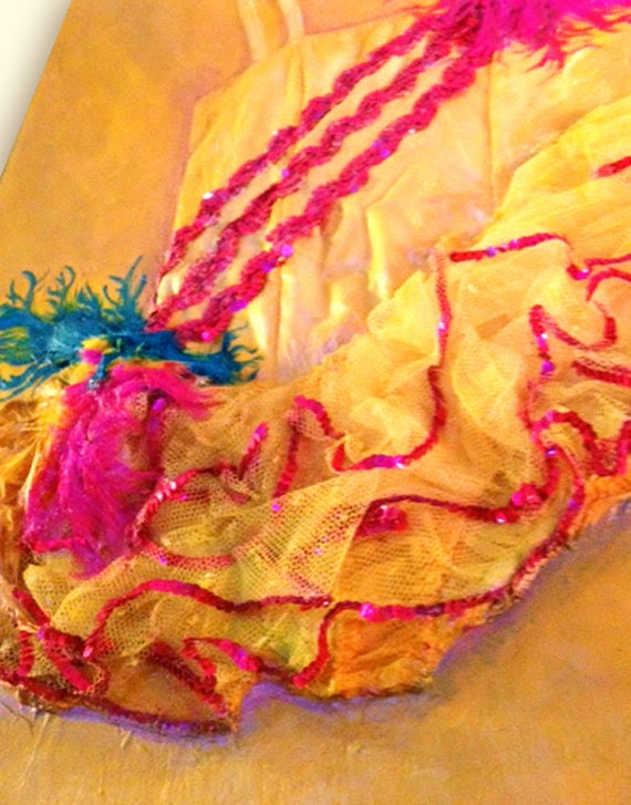 "Custom Painting, Girl's Dance Costume, ""Memories Becoming Art"""
