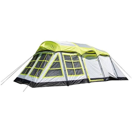 Tahoe Gear Glacier 14-Person 3-Season Family Cabin Tent, Green