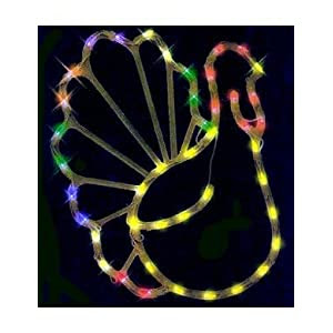 Impact Innovations Thanksgiving Lighted Window Decoration, Turkey ...