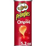 Pringles potato crisps chips, original flavored, 5.2 oz can