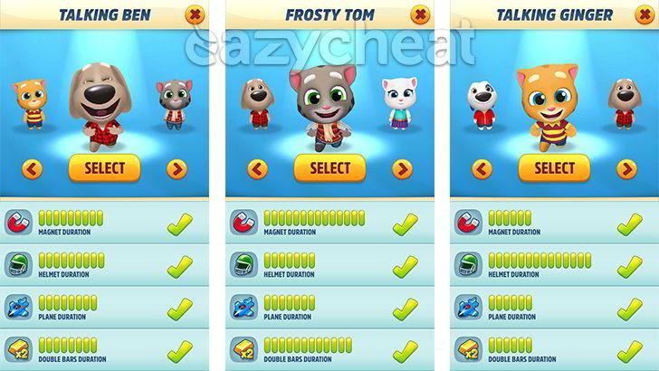 Talking Tom Gold Run v1.0.12.892 Cheats
