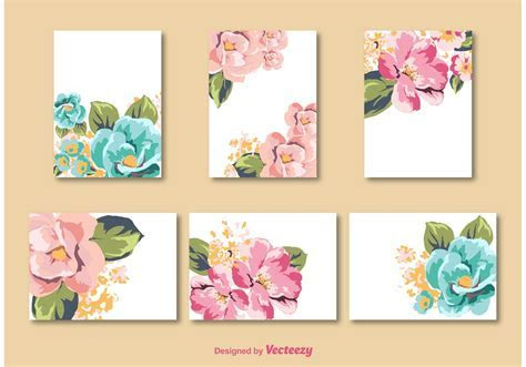 Flower Card Vector Templates   Download Free Vector Art