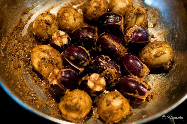 Bharli Vangi, stuffed eggplant