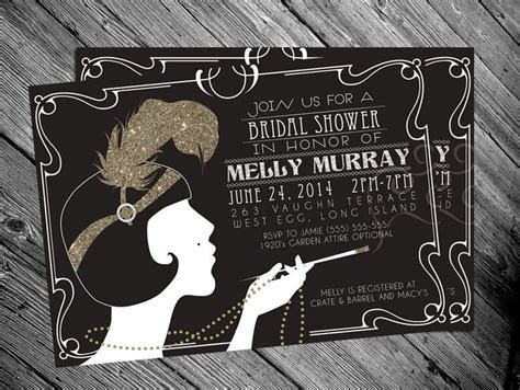1920's Gatsby Flapper Bridal shower Invitation by