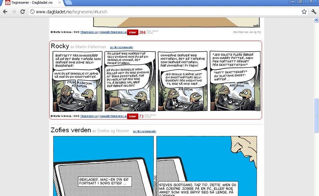 Vest tegneserie Notodden store broderskap.