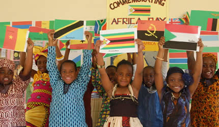 Africa Day at Cornway College Junior School in Zimbabwe. The day commemorates the founding of the Organization of African Unity (OAU). by Pan-African News Wire File Photos