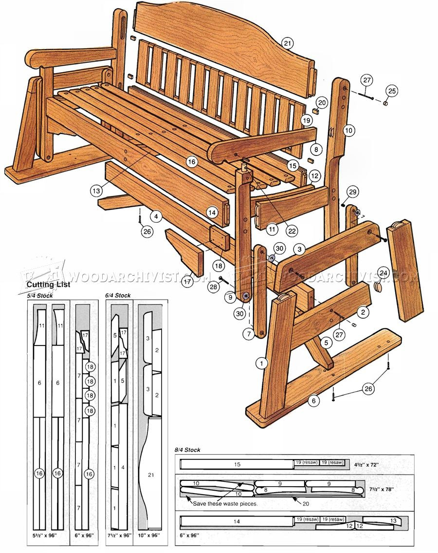 Porch Glider Plans •