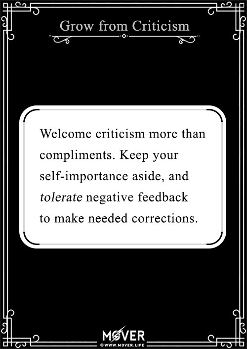 Grow from Criticism -