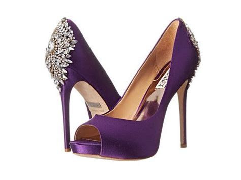 Badgley Mischka Kiara Purple Satin   Zappos.com Free