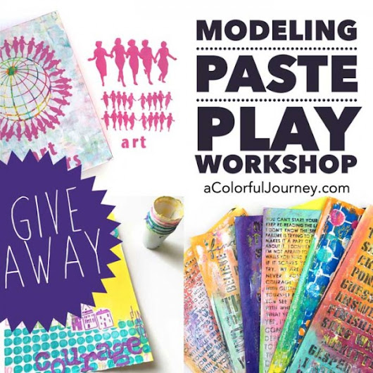 New Modeling Paste Workshop and Giveaway! - Carolyn Dube