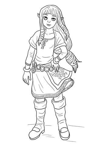 Dibujo De Zelda Para Colorear Dibujos Para Colorear Imprimir Gratis