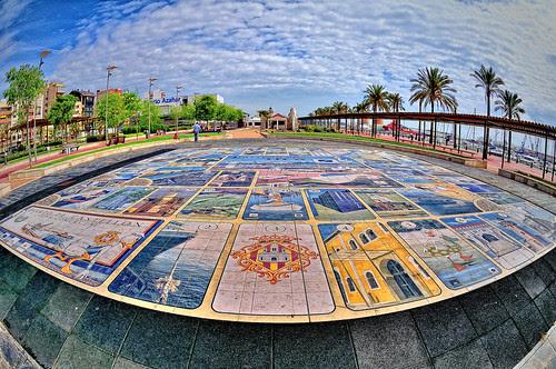 """""""Juego de La Oca"""" en Puerto Azahar. Grau de Castelló de La Plana (Fisheye Vision)"""
