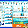 Ocean Calendar Set and Classroom Decorations {Spanish Version} EDITABLE!