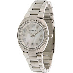 Fossil Women's Flash AM4141 Silver Stainless-Steel Analog Quartz Dress Watch