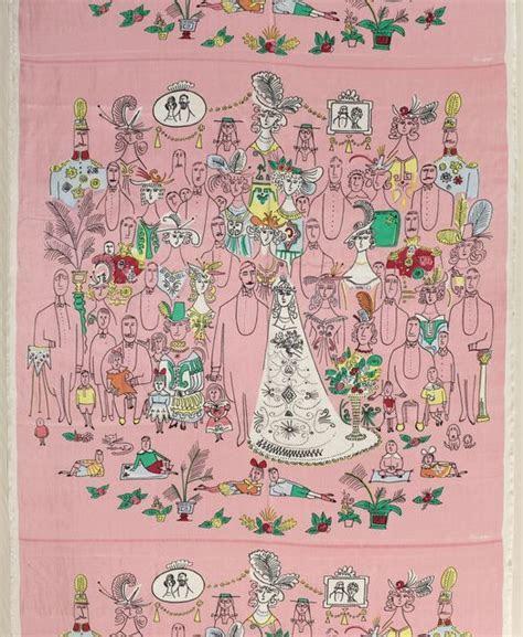 """Textile, """"The Wedding"""", 1950. cooper hewitt design museum"""