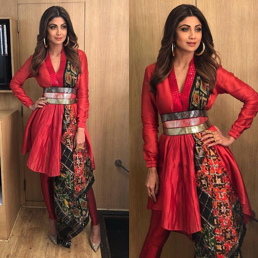 Shilpa Shetty Looked Stunning In Designer Ethnic Dress By Amit Aggarwal