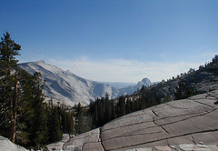 Half Dome from Olmstead Point near Tuolumne Meadows