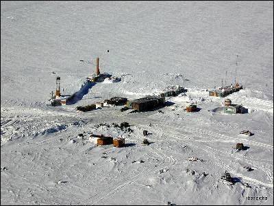 Base rusa sobre el lago Vostok.