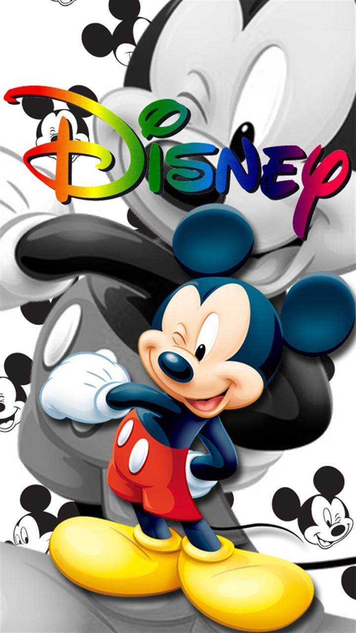 ディズニー 可愛い ミッキーマウスのスマホ壁紙 待ち受け画像 Disney