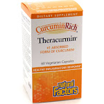 Theracurmin Turmeric Root Extract By Natural Factors - 60 Vegetarian Capsules