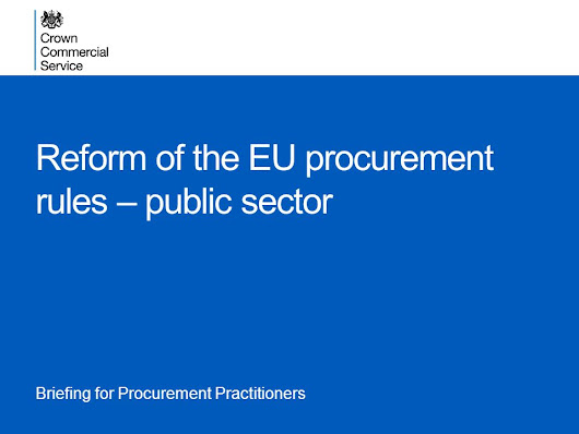 Reform of the EU procurement rules – public sector -  ppt download