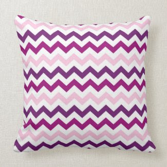 Purple and Pink Zig Zag Chevrons Pattern throwpillow