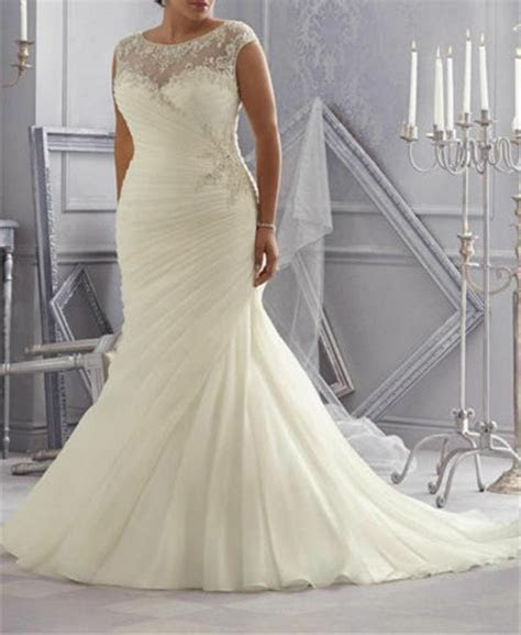 ruched mermaid wedding dress bridal gown custom  size