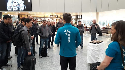 When was the last time YOU arrived at the airport and were welcomed with cupcakes?  Team partner Vebego...