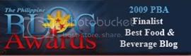Finalist 2009 Philippine Blog Awards