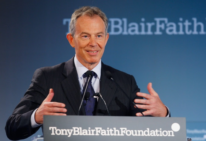 Tony Blair at the launch of his new plattform on 30th of May 2008 in New York