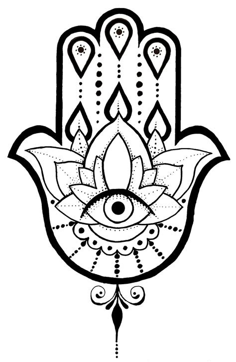 hamsa hand drawing clipartmag