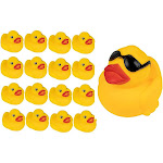 Juvale Rubber Ducks - 17-Count Rubber Duckies, Floating Baby Bath Toys for Children, Toddlers, 1 Large and 16 Small, Yellow