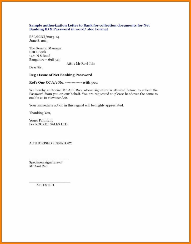 Authorization Letter for Internet Templates | Ryan's ...