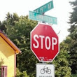 Should bike riders stop for stop signs?