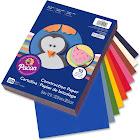 "Pacon Rainbow Super Value Construction Paper, Assorted Color, 9"" x 12"" - 200 count"