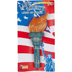 Halloween Adult Light Up Liberty Torch Green - One Size, Adult Unisex