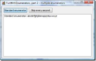Standard enumerator