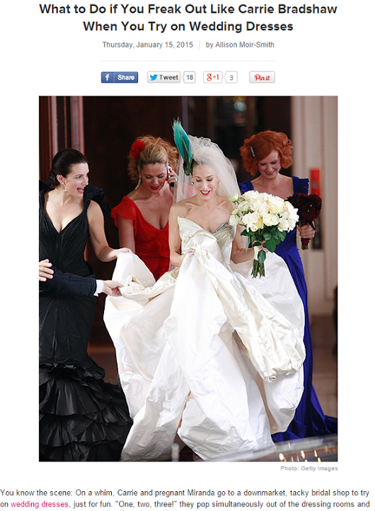 Brides.com: What To Do If you Freak Out Like Carrie Bradshaw