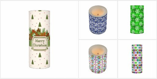 Christmas and Holiday LED Candle Collection