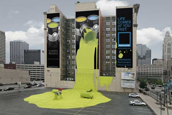 Nationwide Insurance: Spilt Paint creative billboard ads
